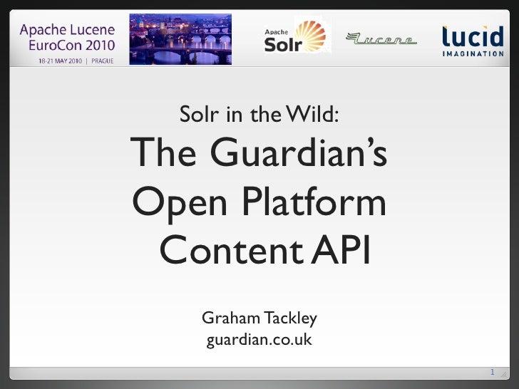 The Guardian Open Platform Content API: Implementation