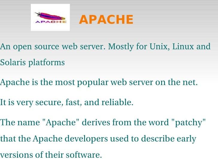 Apache ppt