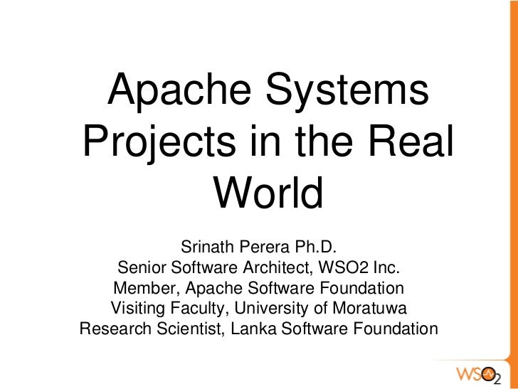 IESL Talk Series: Apache System Projects in the Real World