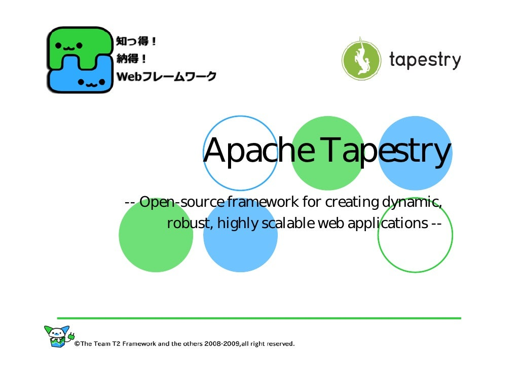Apache Tapestry -- Open-source framework for creating dynamic,       robust, highly scalable web applications --