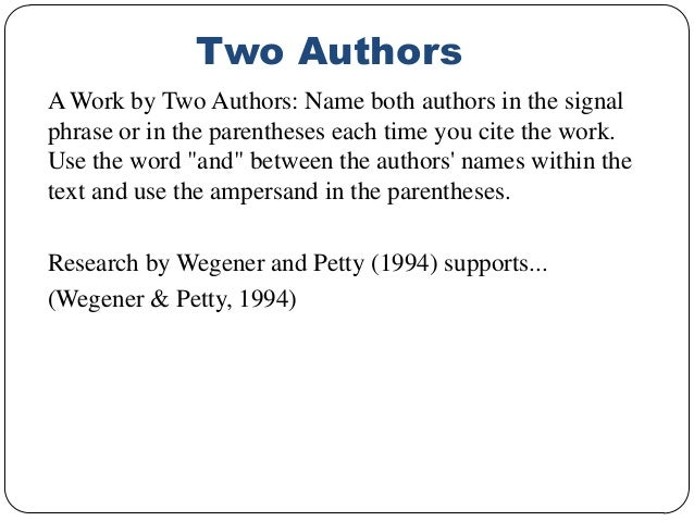 In text citation apa two authors