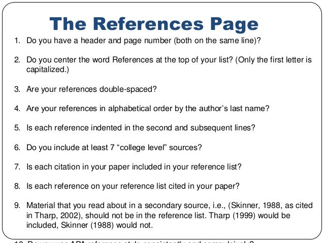 apa reference page formatting Formatting your essay: running heads, margins, heading levels, lists, tables, figures, table of contents, title page, serial comma and quotations (apa style does not.