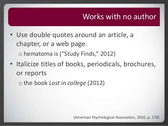 Apa embedded citations