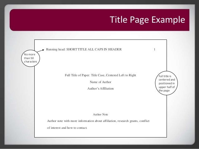 example of apa format title page