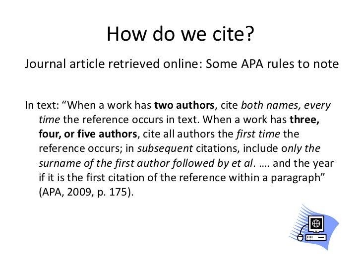 Apa cite journal article