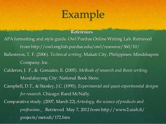 Undergraduate thesis format philippines