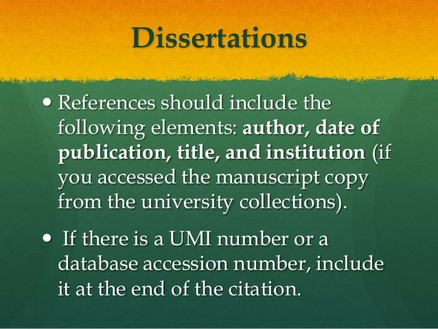 apa reference dissertation proquest