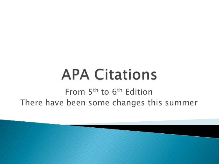 apa 6th edition dissertation How to cite references using apa style the publication number is equivalent to the umi number that appears in the example for the apa citation for the dissertation or theses on page 208, apa publication manual, 6th edition eric document greenberg, j & walsh, k.