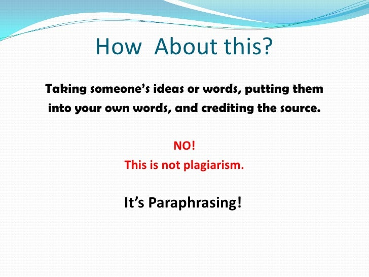 Do not understand how to cite paraphrasing.....?
