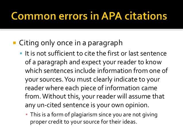 Apa paragraph