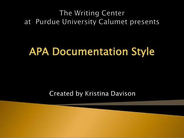 APA Documentation Style