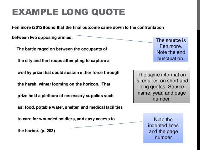 Quotation in essay format