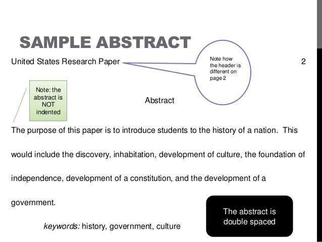 Examples of research paper abstracts apa