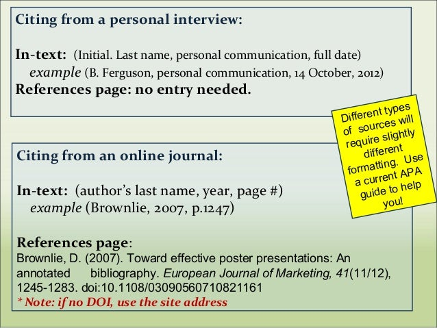 citing journals in apa format
