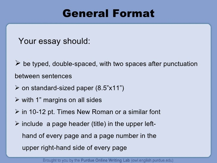 How to double space an essay