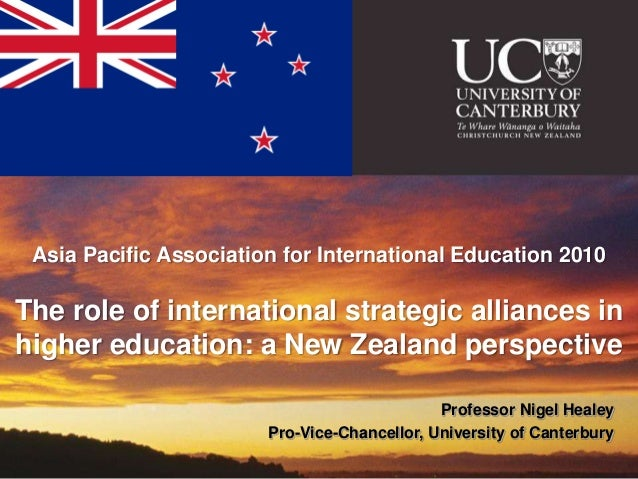 Asia Pacific Association for International Education 2010The role of international strategic alliances inhigher education:...