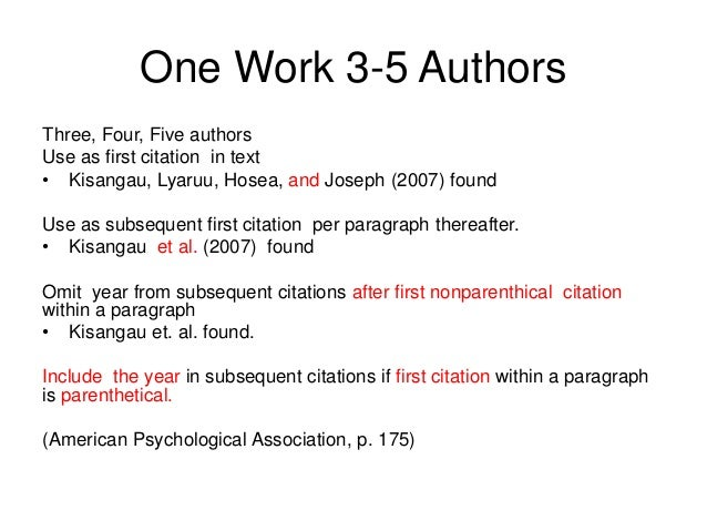 mla citation multiple authors et al