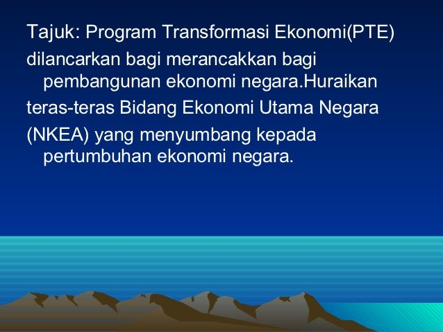 program transformasi ekonomi