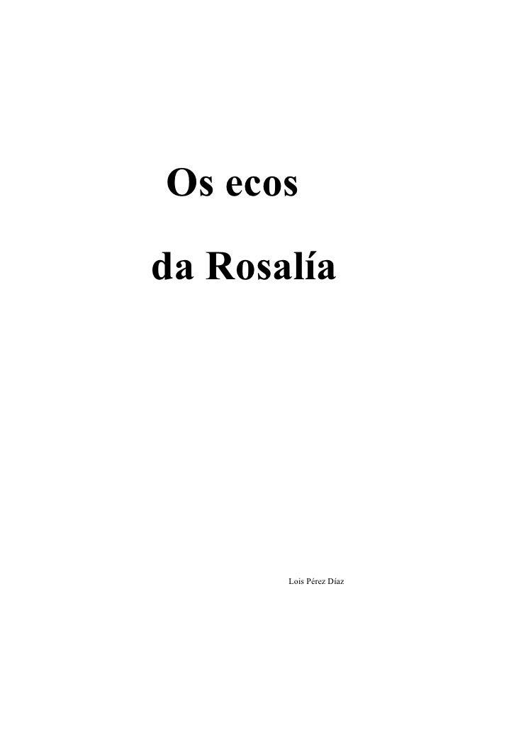 Os ecos da Rosalía