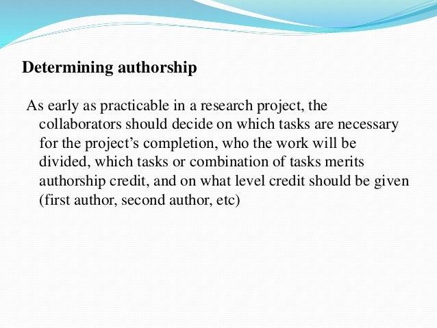 determining authorship scientific paper