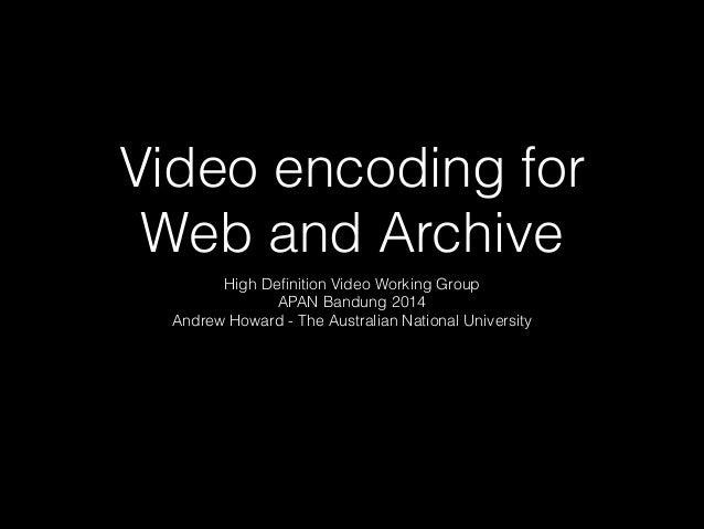 Apan media encoding