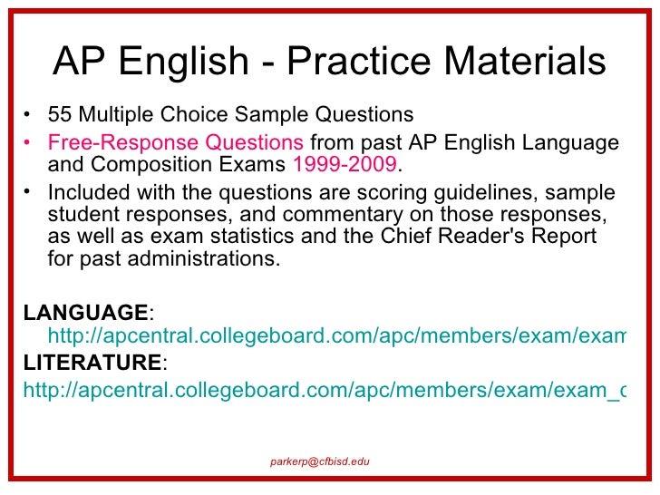 1999 Ap English Literature Essay Exam - image 11