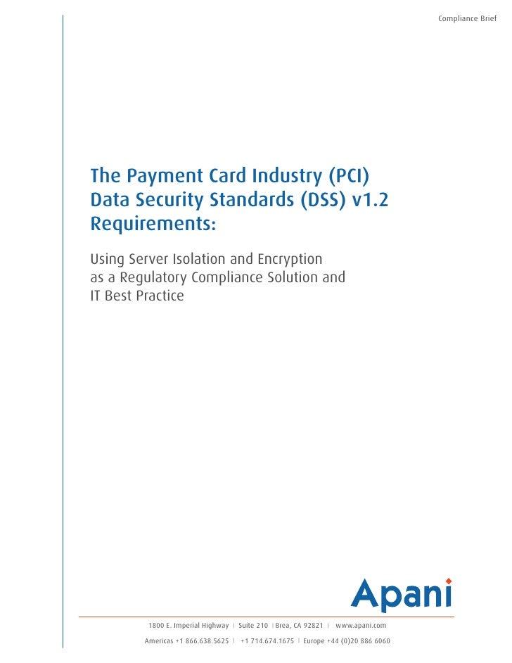Apani PCI-DSS Compliance