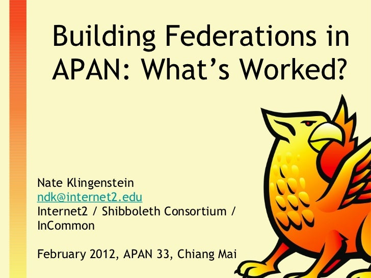 Building Federations in APAN: What's Worked? <ul><li>Nate Klingenstein </li></ul><ul><li>[email_address] </li></ul><ul><li...