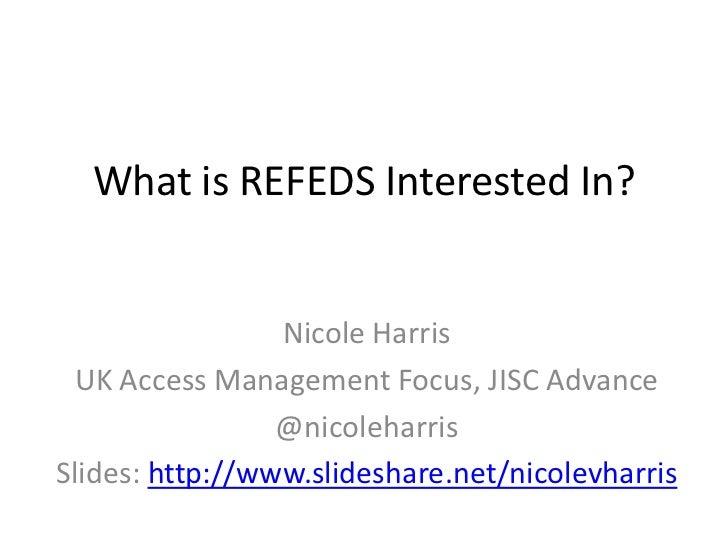 REFEDS MET, PEER and MDUI Presentation
