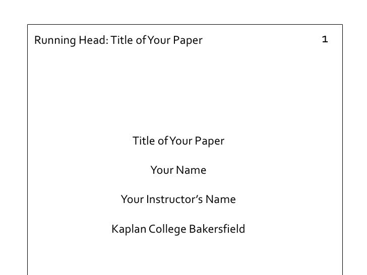 Apa research paper template word
