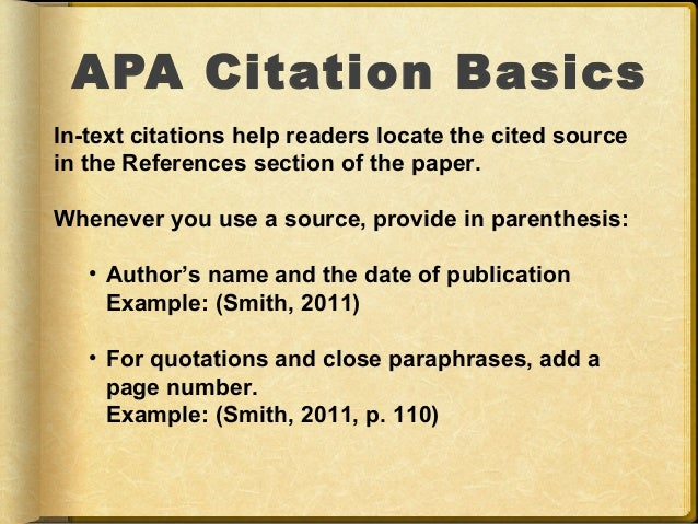 Apa citation within citation