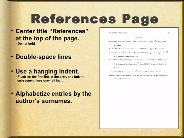 References for a research paper