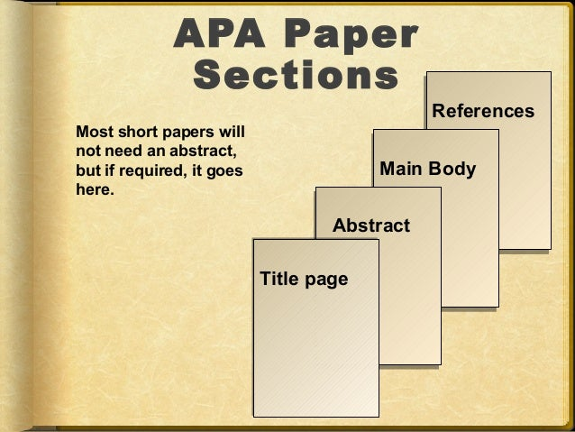 Do all APA papers need to have this?