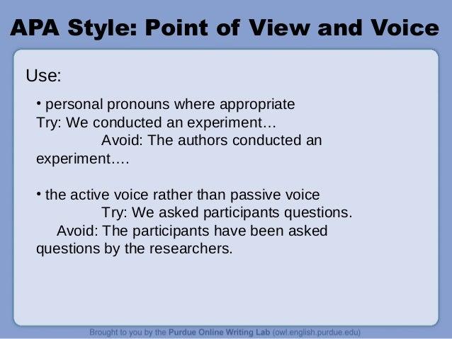 Apa style power point presentation