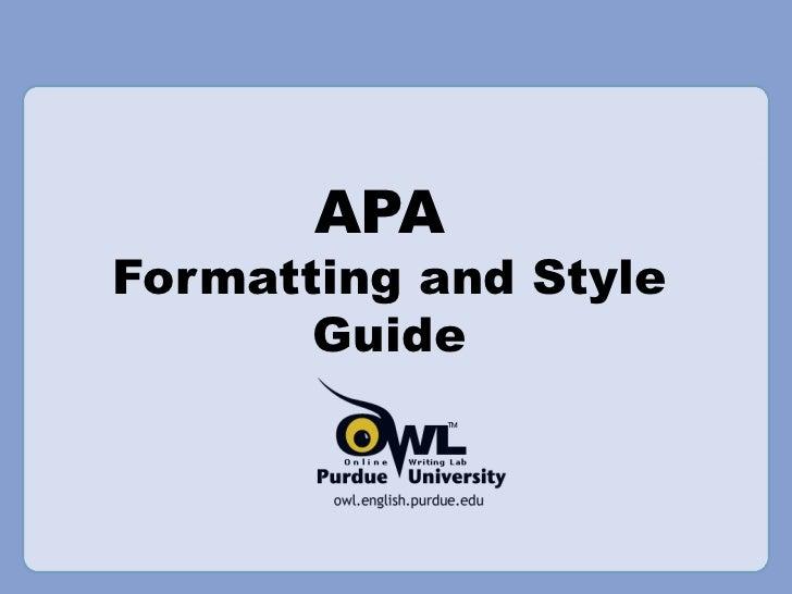Apa Pp Presentation