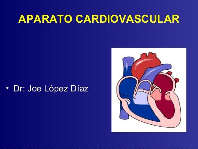 APARATO CARDIOVASCULAR• Dr: Joe López Díaz