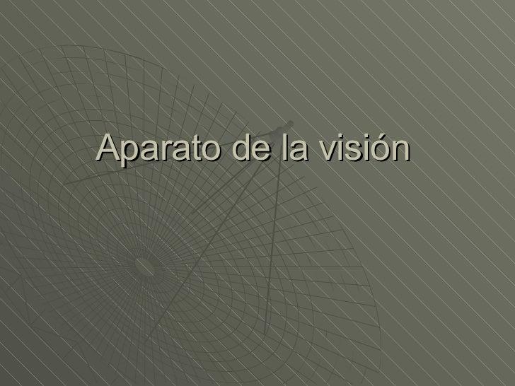 Aparato de la visión