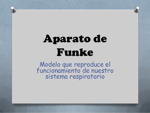 Aparato de Funke Modelo que reproduce el funcionamiento de nuestro sistema respiratorio
