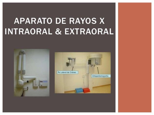 Aparato de rayos x intraoral extraoral for Cuarto de rayos x odontologia