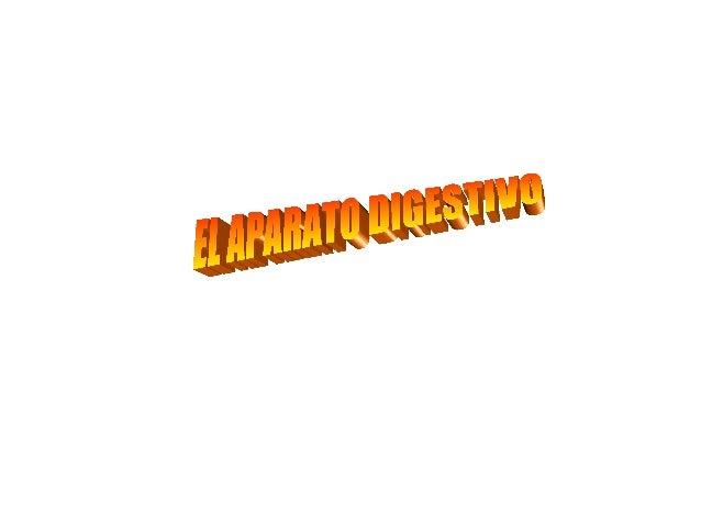 EL APARATO DIGESTIVO• El aparato digestivo,  también llamado  sistema digestivo, tiene  como función principal ;  transfor...