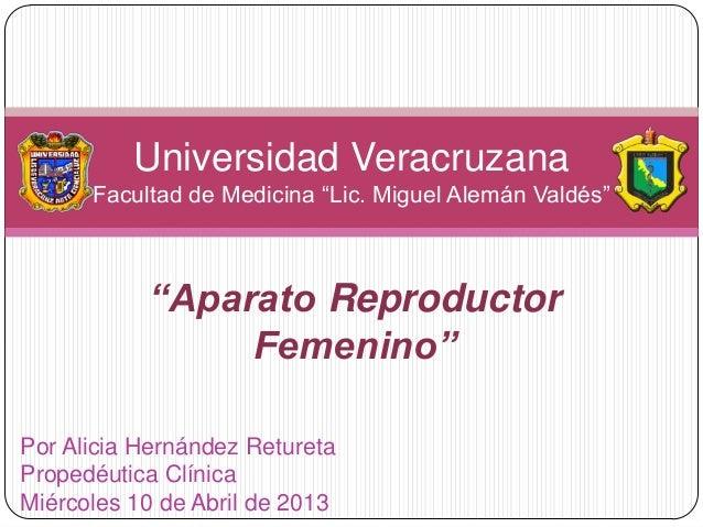 """Propedéutica: """"Aparato reproductor femenino"""""""