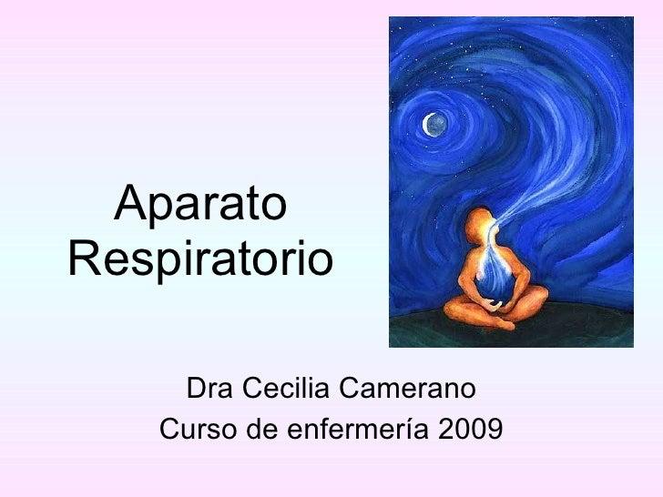 Aparato Respiratorio Dra Cecilia Camerano Curso de enfermería 2009