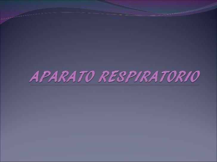 Aparato Respiratorio - embriología