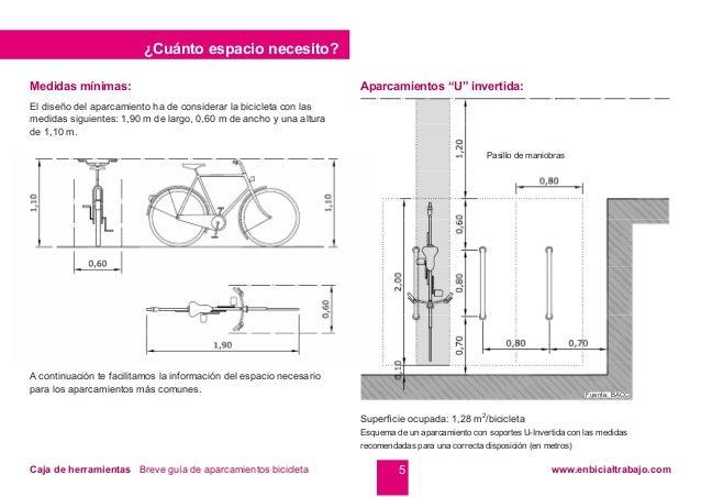 En bici al trabajo aparcamientos de bicicleta for Medidas minimas de una oficina