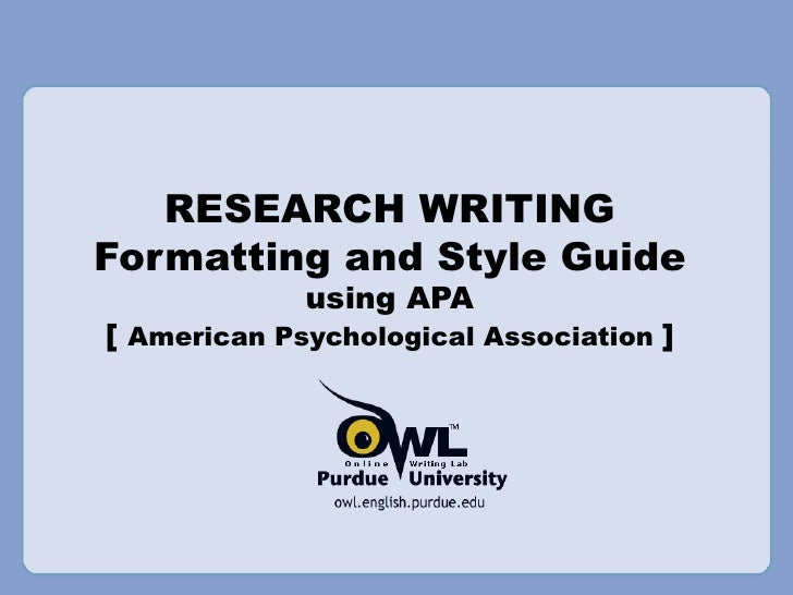 Apa research proposal