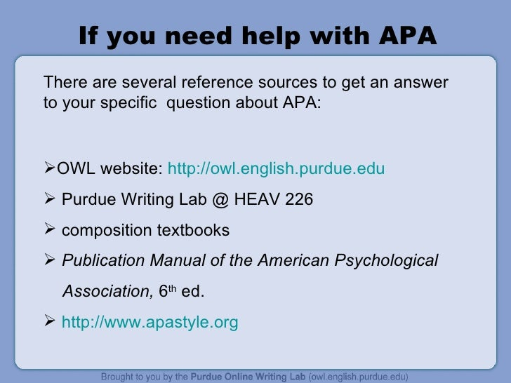 APA formatting question?