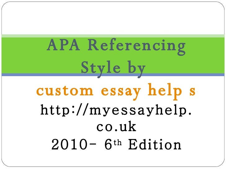 referencing help Easybib reference guide to website citation in apa format.