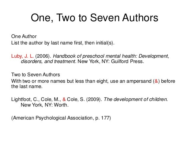 Apa Reference List Example 6th Edition. List And In Text Citations ...