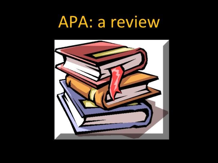 Apa review