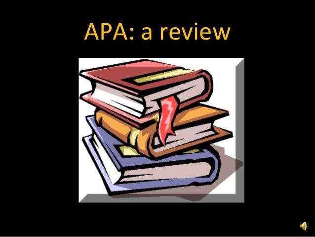 APA: a review
